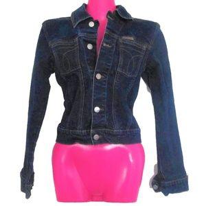 vintage calvin klein blue denim jacket size small